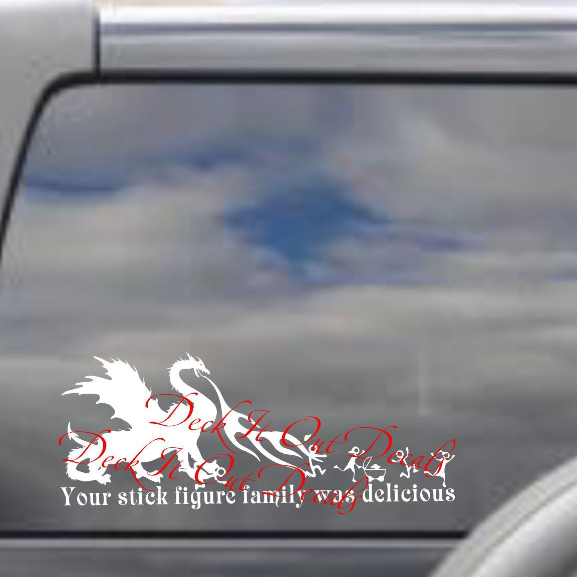Dragon your stick figure family was delicious vinyl decal car sticker e00266 by deckitoutdecals on etsy