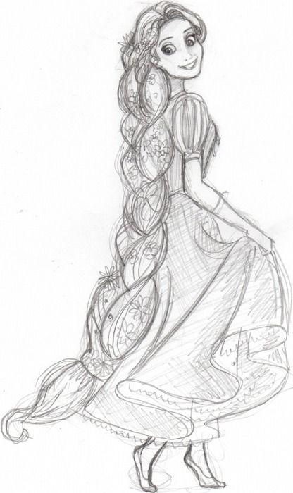 Rapunzel Sketch Rapunzel Sketch Disney Art Drawings Rapunzel Drawing