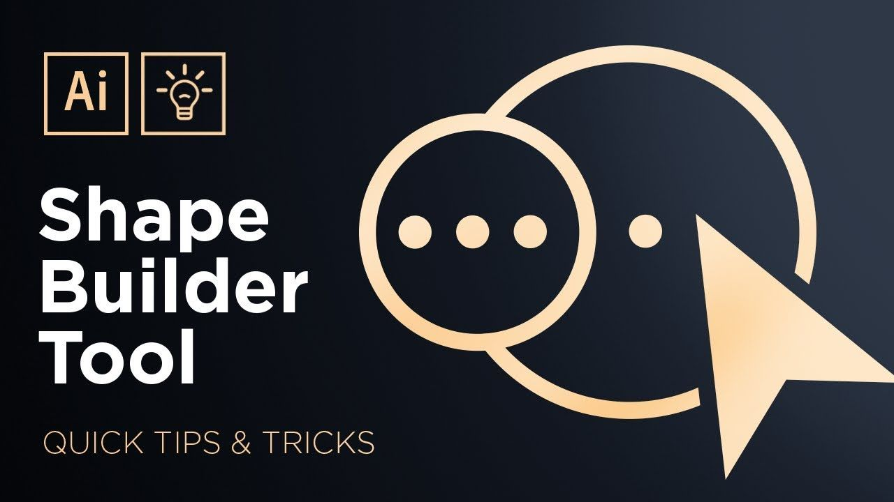 The Shape Builder Tool Adobe Illustrator Quick Tips