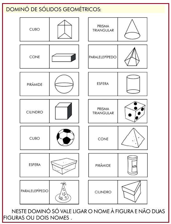 Dominó – sólidos geométricos | Rérida Maria | números | Pinterest ...