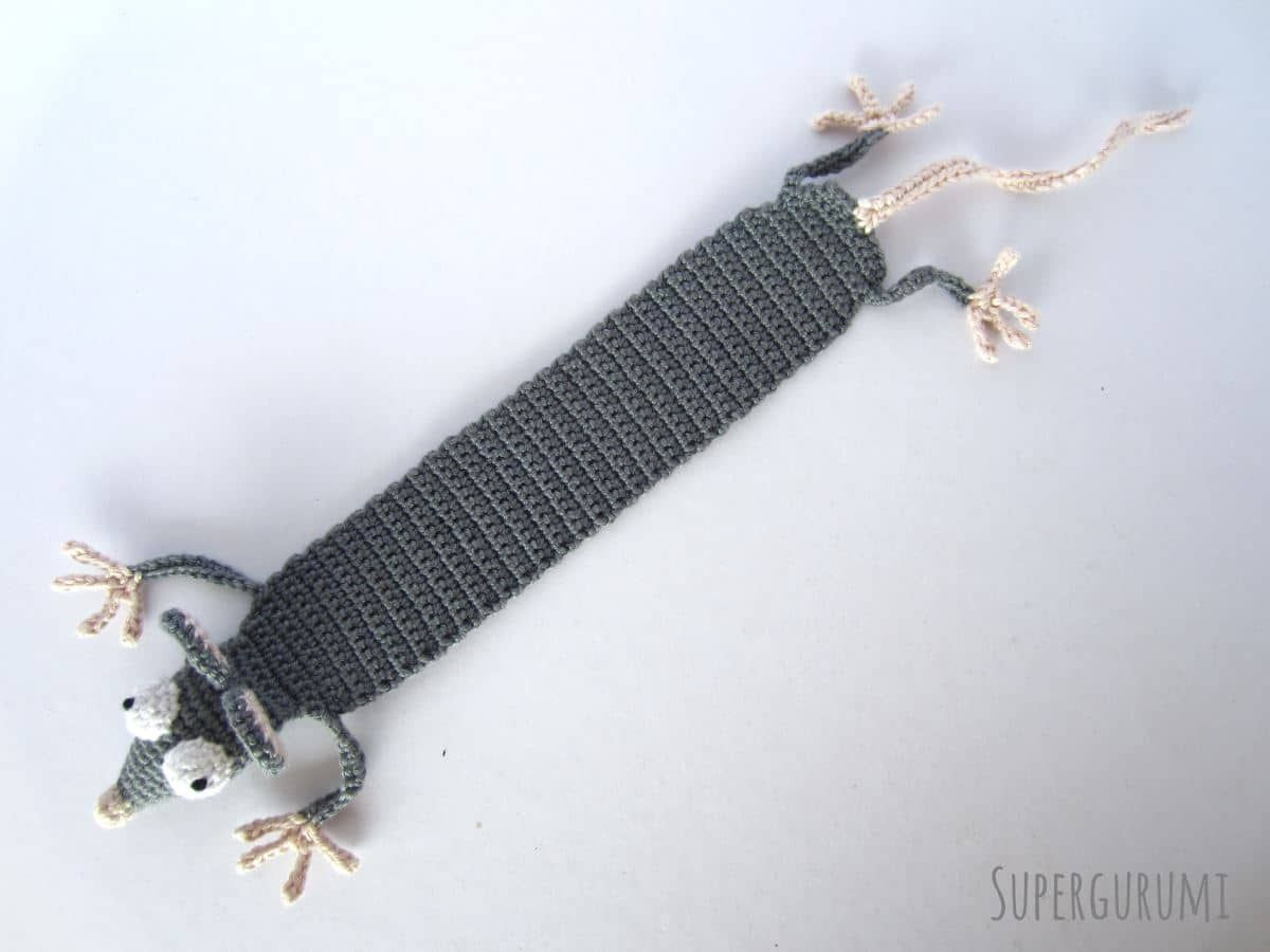 Amigurumi Rat Bookmark Length | Animal crochet | Pinterest ...