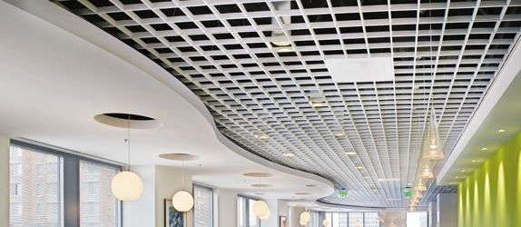 Metalworks Open Cell Commercial Tiles From Armstrong Ceiling Solutions Decorative Durable Accessible To