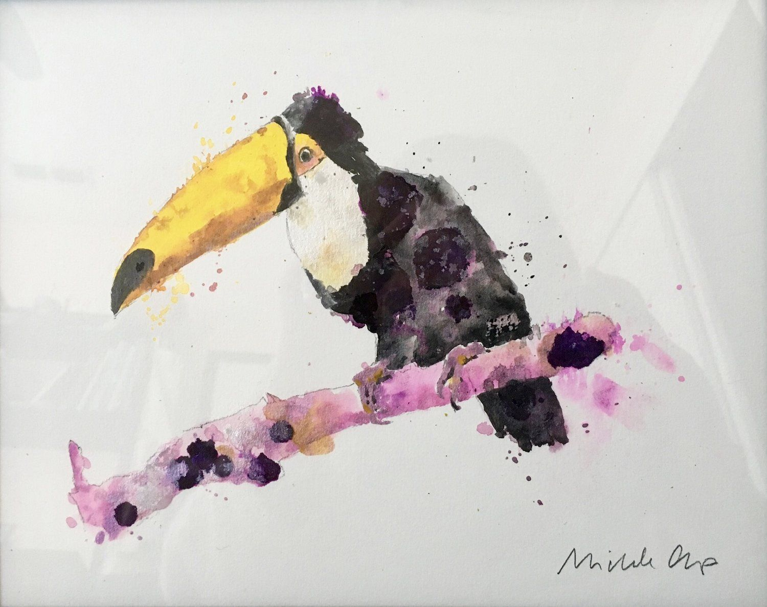 Toucan Acrylic And Alcohol Ink Michele Clamp Painting Blog