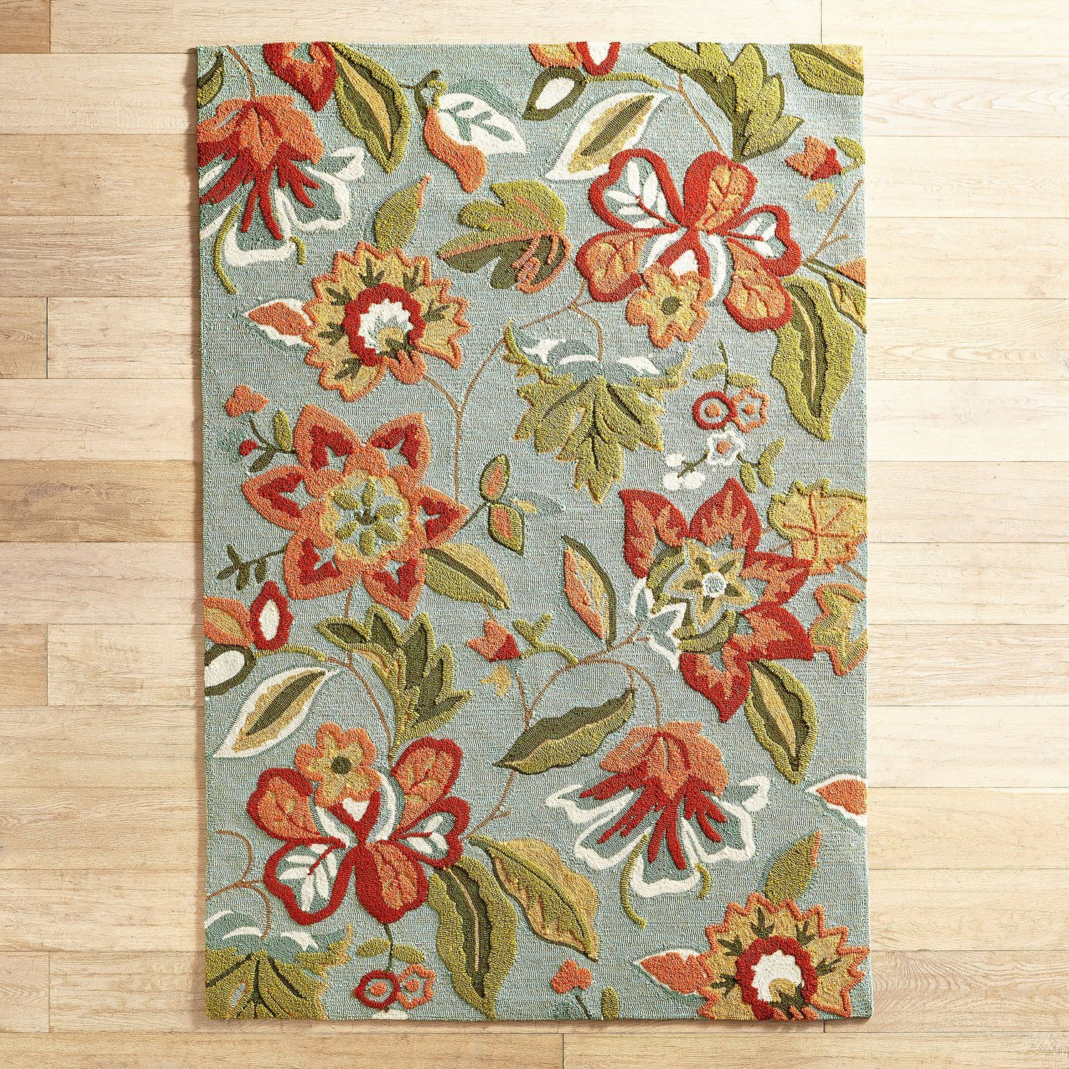 Fen Floral Blue Rug Pier 1 Imports Floral Rug Rugs Rugs And