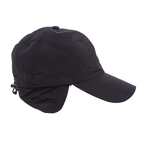 359b366fbcd Black LargeXLarge 2324in Water Repellent Winter Baseball Rain Cap   To view  further for this item