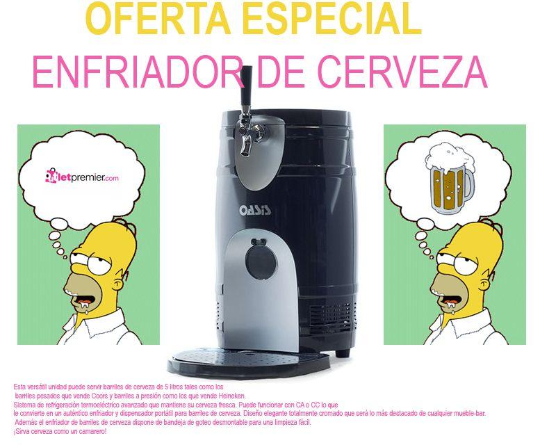 Con este enfriador de Cerveza  Homer Pierde la Cabeza...