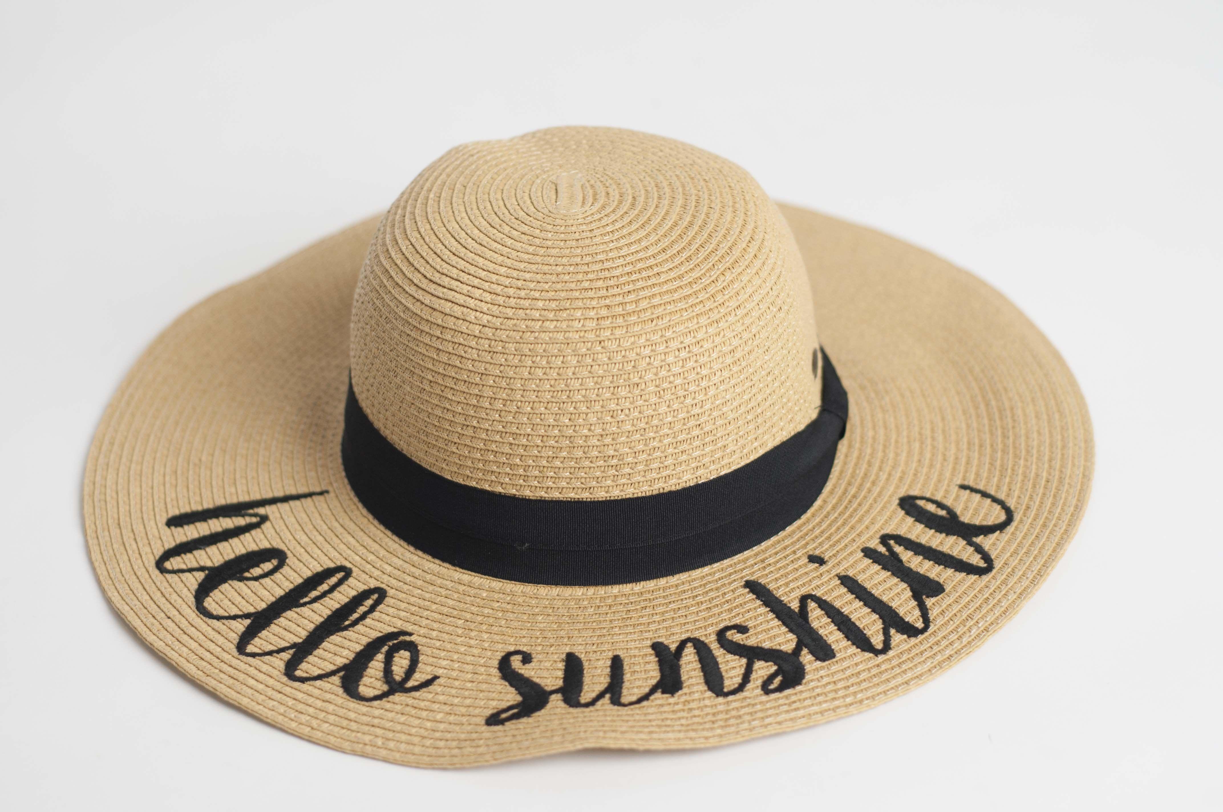 812d4d865 Hello Sunshine Hat in 2019   Vacation   Hats, Hello sunshine, Sunshine