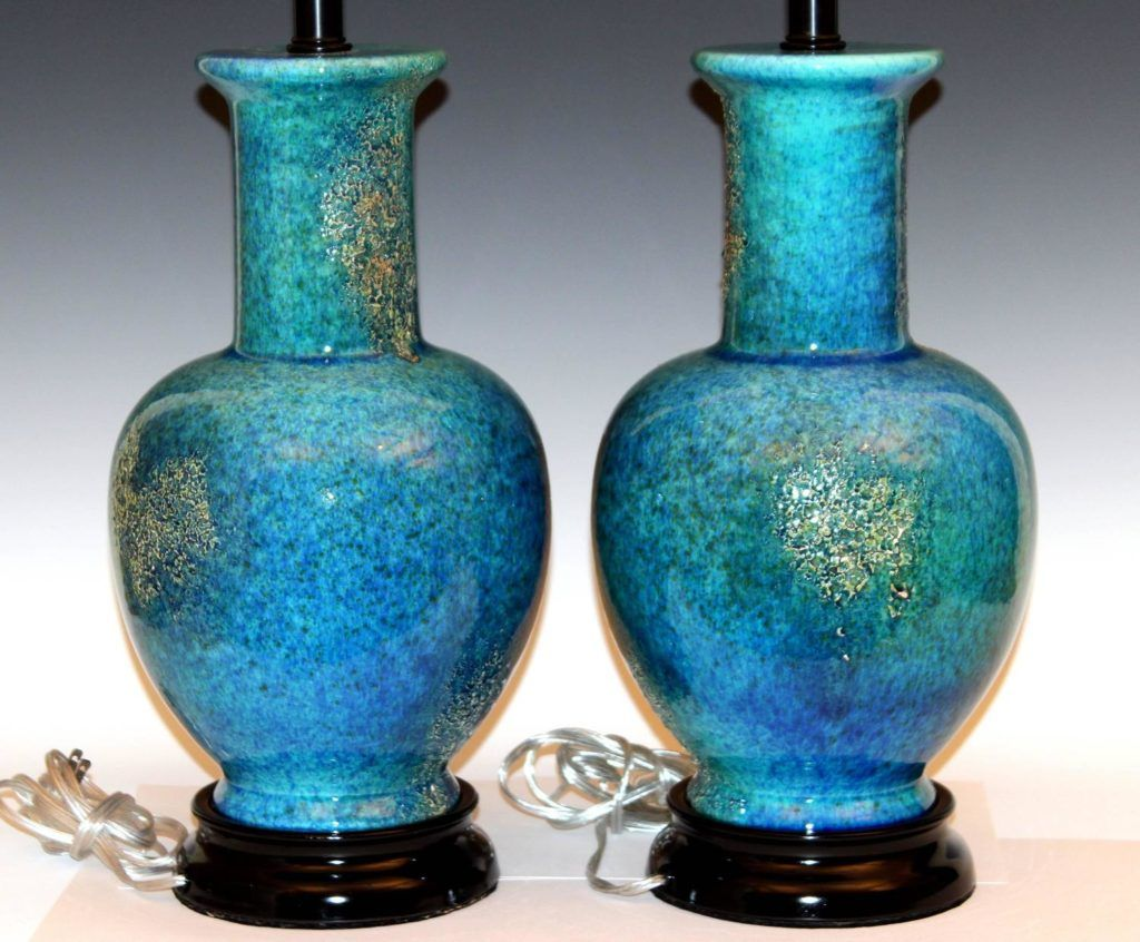 Lava lamp large - Table Lamp Exquisite Large Lava Lamp Pair Of Large Vintage Haeger Pottery Mottled Turquoise Lava