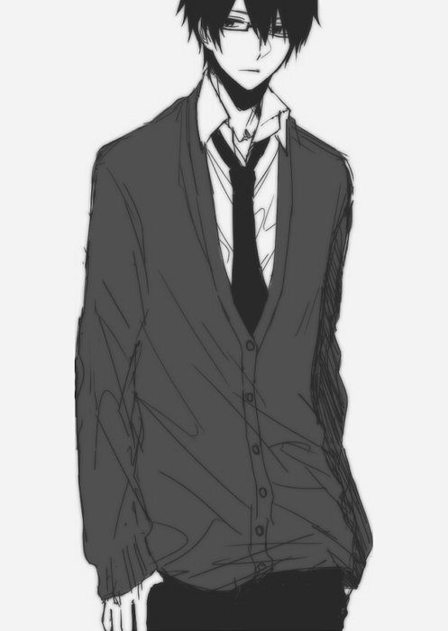 Anime Black And White Cute Manga School Uniform Favim Com 323241