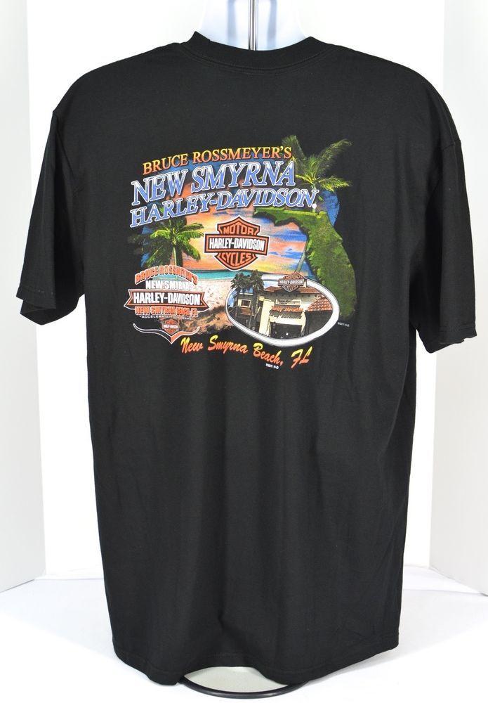 Harley Davidson Motorcycles New Smyrna Beach Florida T Shirt