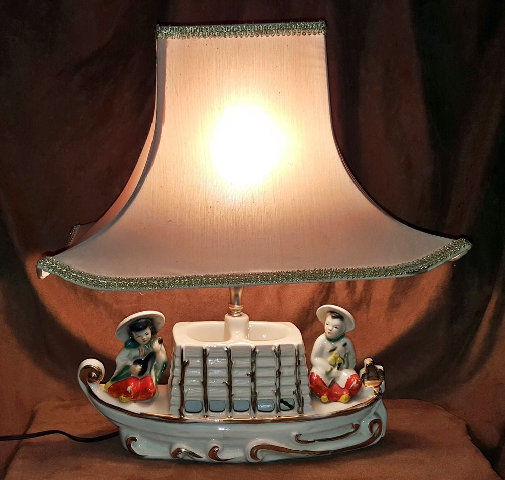 Premco tvtable lamp 1954 chinese boat ceramic vintage r15092001 premco tvtable lamp 1954 chinese boat ceramic vintage r15092001 geotapseo Image collections