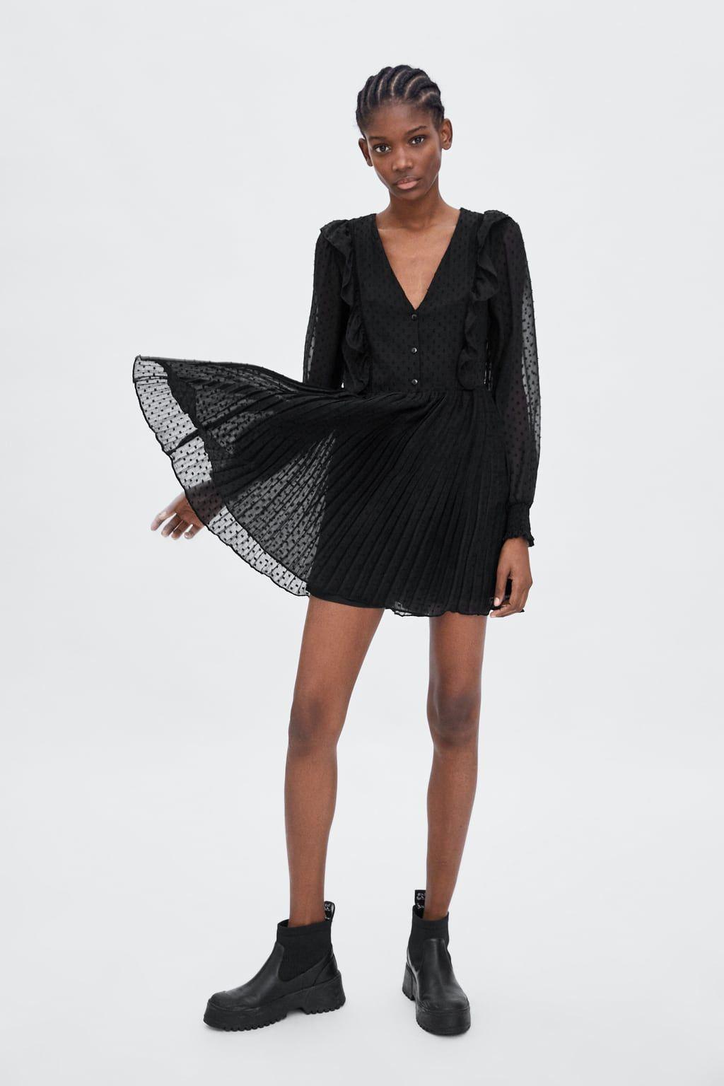 Image 1 of SWISS DOT JUMPSUIT DRESS from Zara | Jumpsuit ...