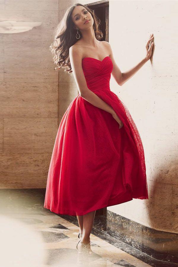 Robe de soiree longue bustier rouge