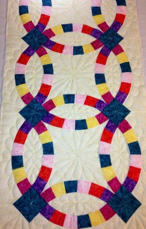 Double Wedding Ring table runner~Eleanor Burns Egg Money Quilts ... : egg money quilts by eleanor burns - Adamdwight.com