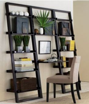 Crate Barrel Ladder Shelf And Desk Stealing This Idea From Model Of Nancy Apartment