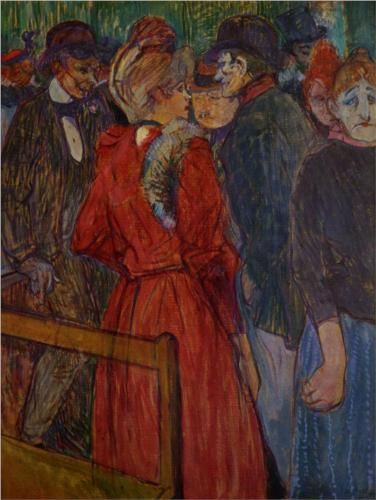 At the Moulin de la Galette - Henri de Toulouse-Lautrec 1891