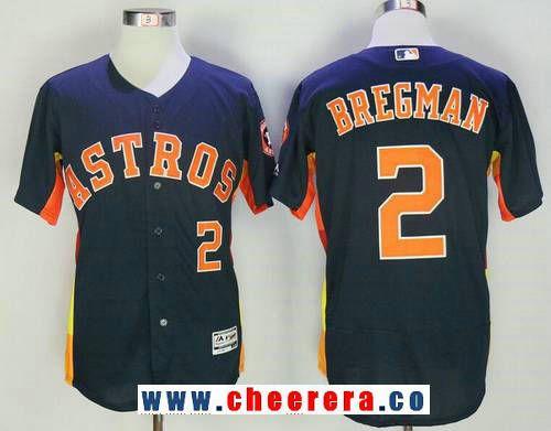 ae197228603 Men's Houston Astros #2 Alex Bregman Navy Blue Stitched MLB Majestic Flex Base  Jersey