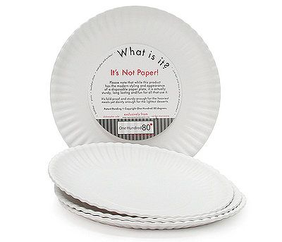 """""""What Is It?"""" Reusable Melamine plastic plates that look like paper!"""