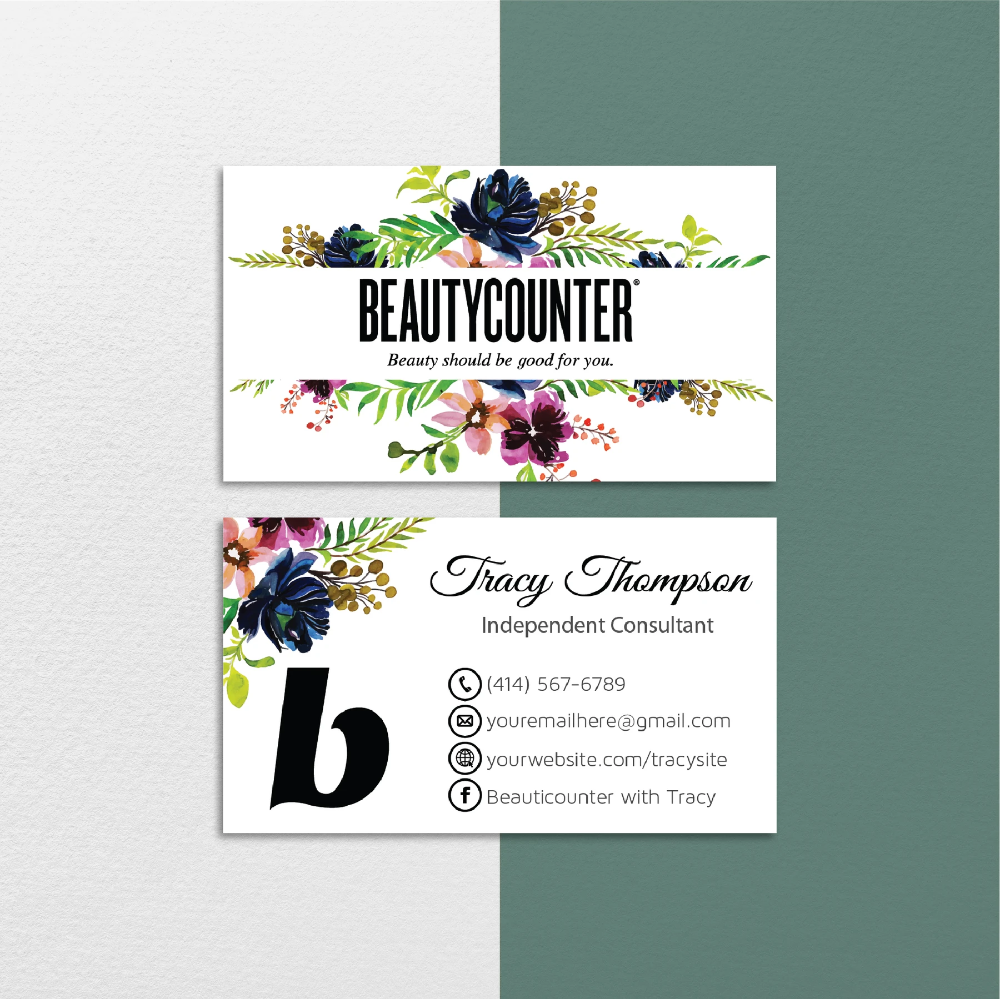 Personalized Beautycounter Business Cards Beautycounter Cards Bc04 Toboart Printable Business Cards Beautycounter Business Printable Cards