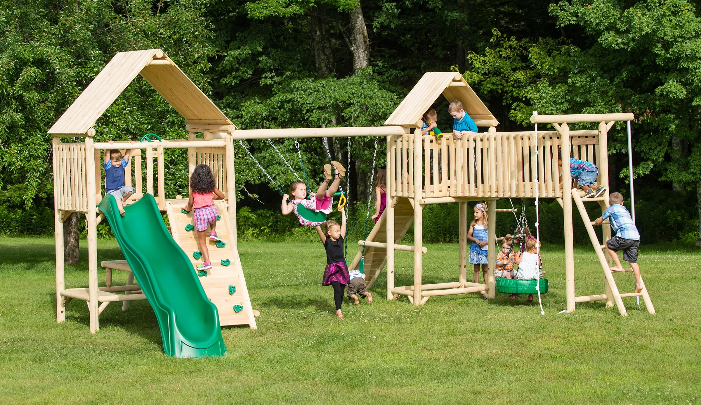 play a round frontier fort cedar playset is splinter free