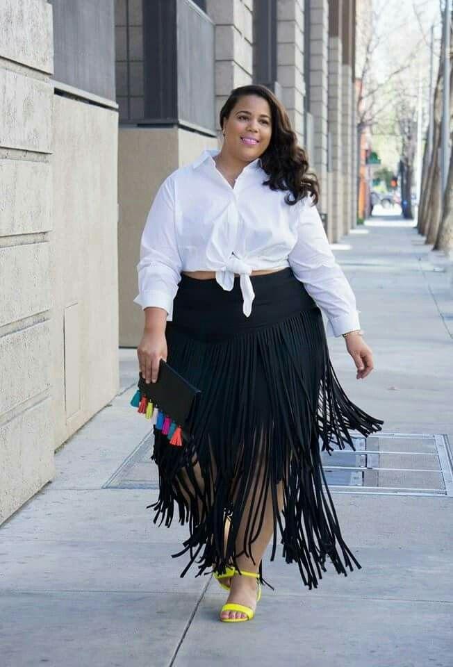 47dd54750a8 Fringe Benefits skirt - full figure style Diva Fashion
