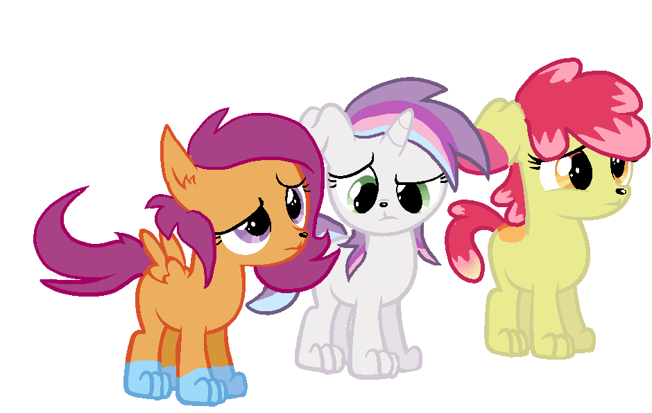 My Little Pony Coloring Pages Nightmare Moon : Cutie mark crusaders cutie mark crusaders pony dogs by zoiby