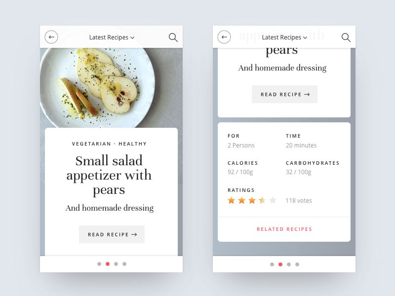 Food recipes app design app design app and ui ux this is a mobile version of a recipes app i designed 3 months ago i share a couble more screens during this week forumfinder Choice Image