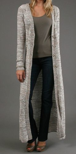 Free People The Beverly Maxi Cardigan Knit Sweater Floor Length  9db95471f