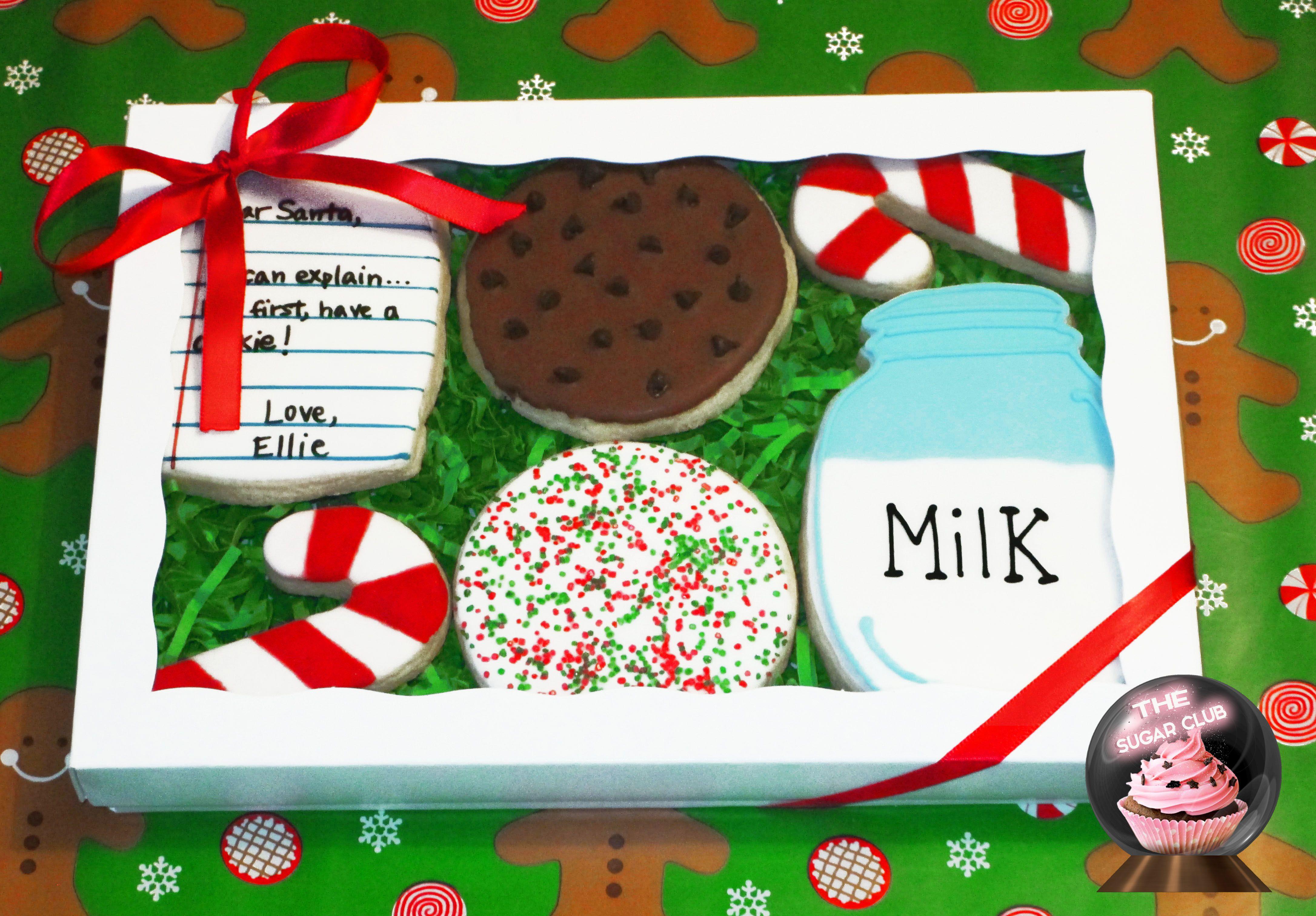 Christmas Cookies, Santa Cookie, Cookie Gift, Cookies For Santa ...
