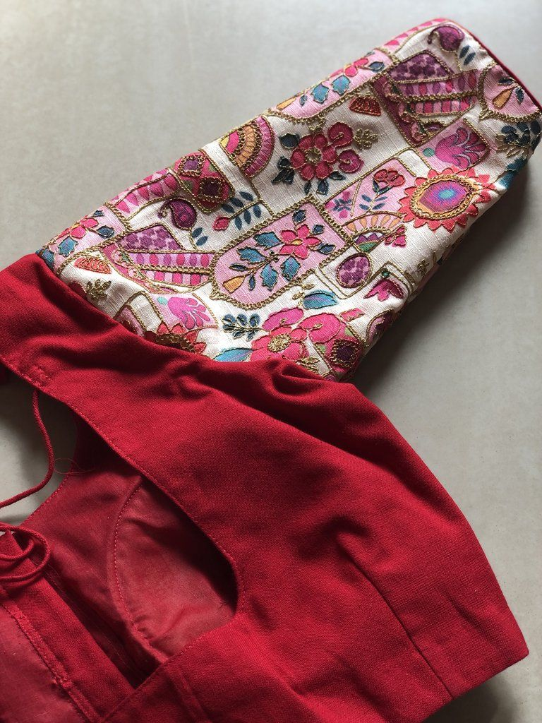 Red with rich sleeve blouse also best design models images in dresses needlepoint rh pinterest