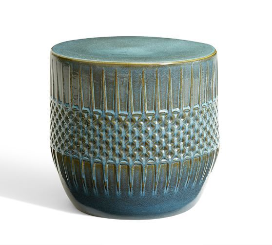 Ceramic Ethnic Accent Side Table | Pottery Barn