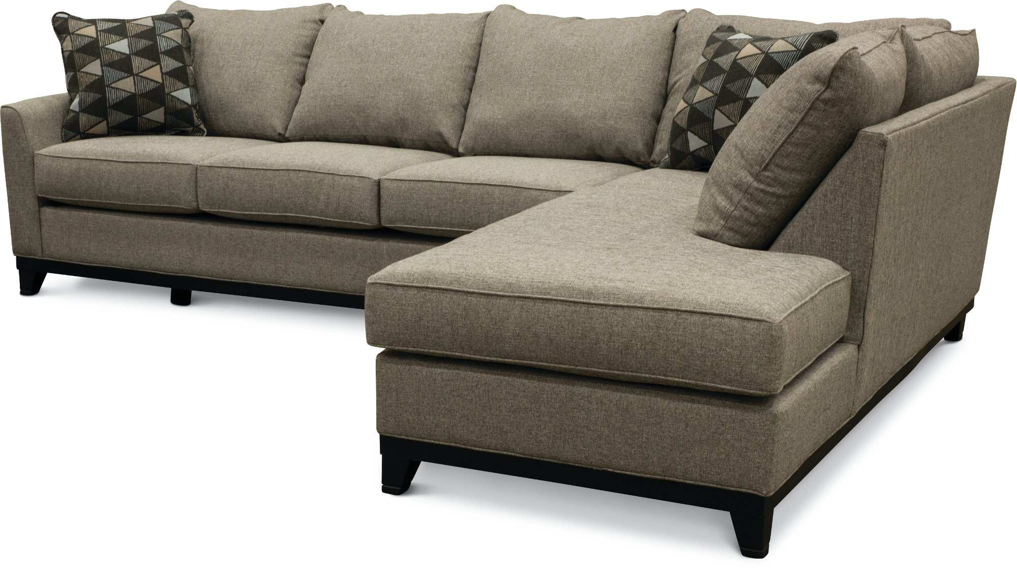 Slate Gray 2 Piece Sectional Sofa With Raf Chaise Emerson