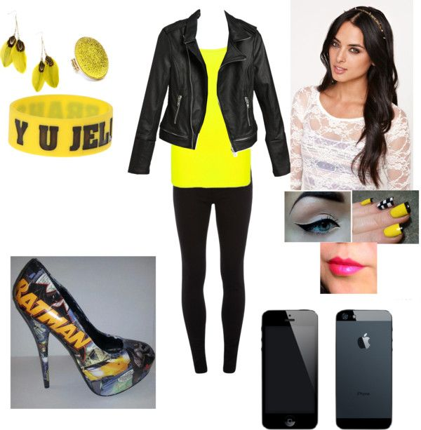 """""""Yellow jelly"""" by sweet-tart-luver ❤ liked on Polyvore"""
