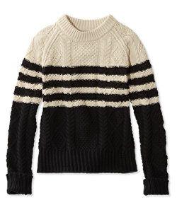 #LLBean: Signature Cotton Fisherman Sweater, Marled Stripe