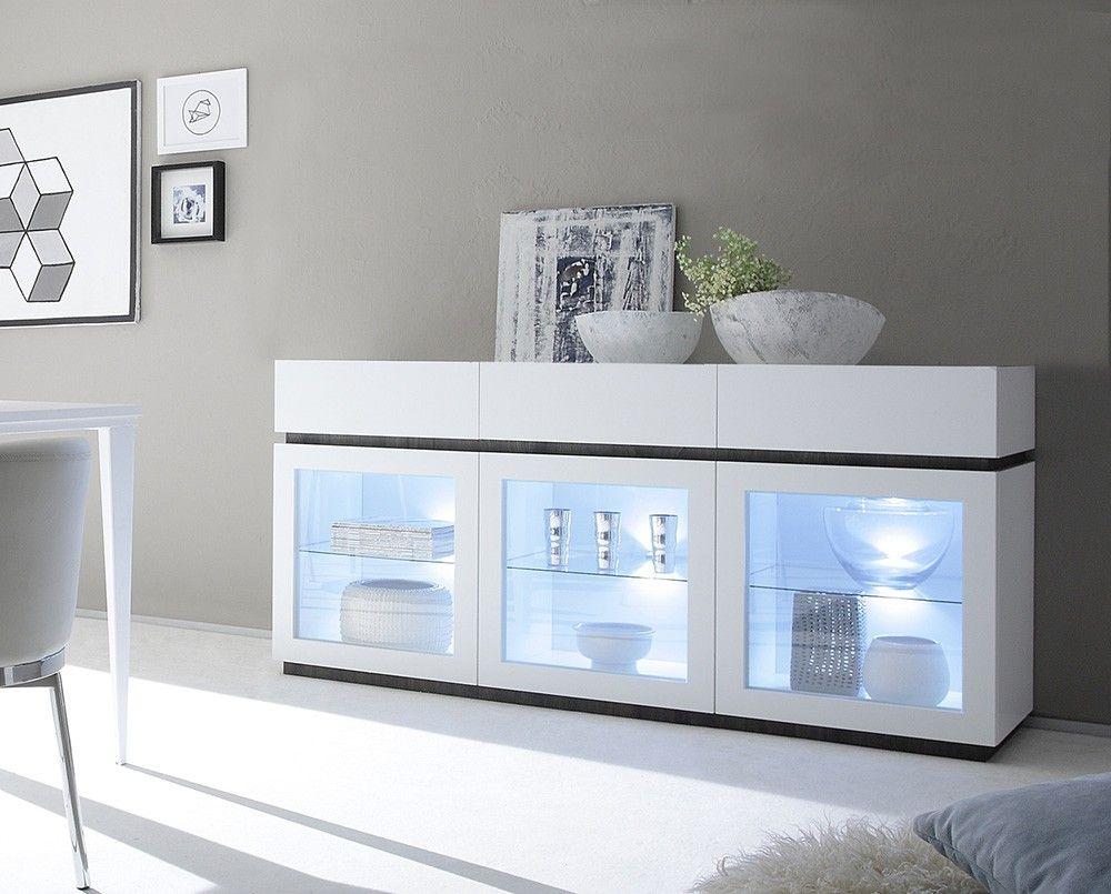 Credenza Due Ante Ikea : Credenza moderna madia di design ante in vetro e cassetti