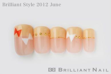 ブリリアントスタイル2012年6月号ハンド&フットネイルNo.08