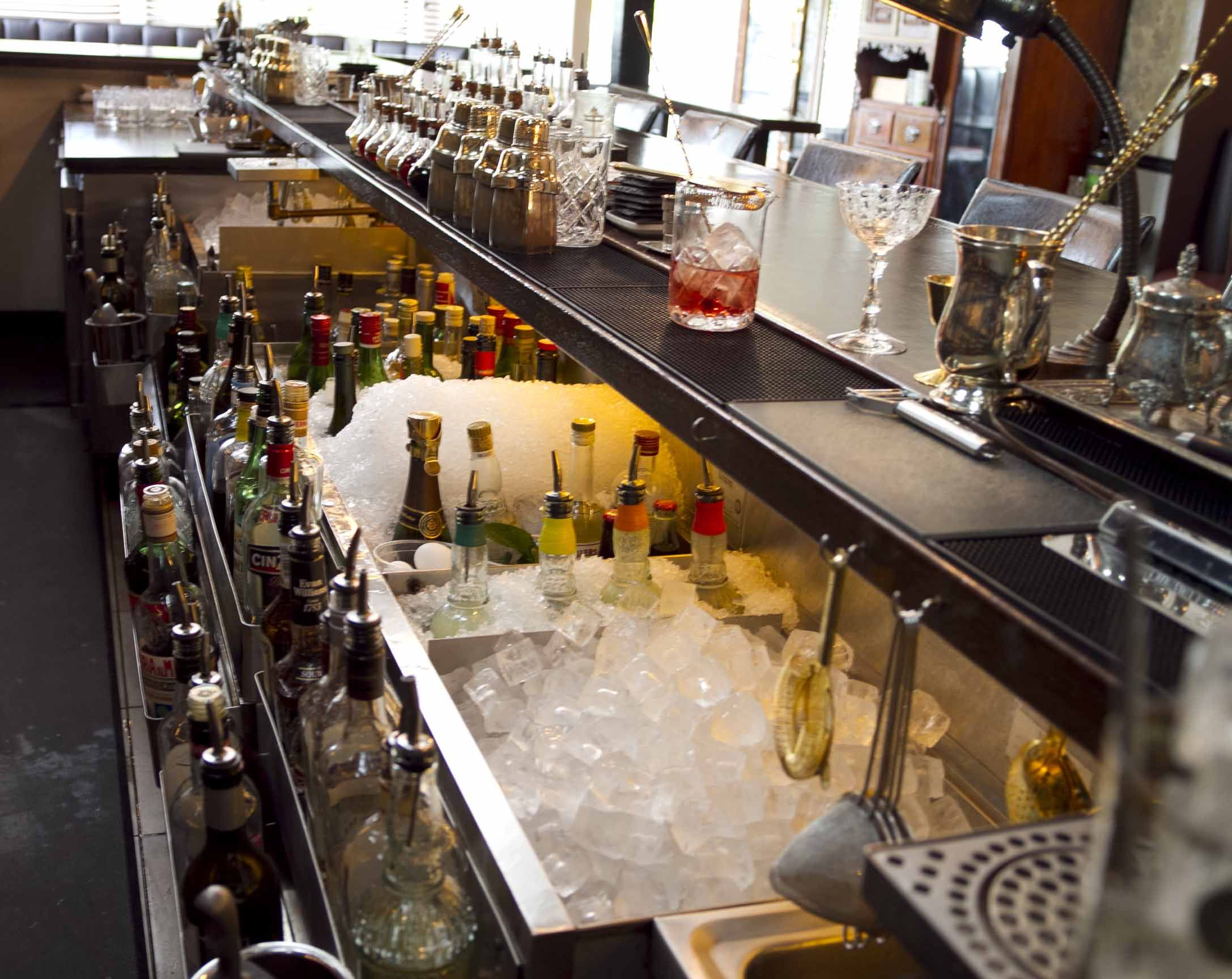 whiskey and bitters emporium    bartenders only   Bar design ...