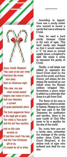 Candy Cane Legend Bookmark Printable Candy Cane Legend Candy Cane Story Candy Cane Cards