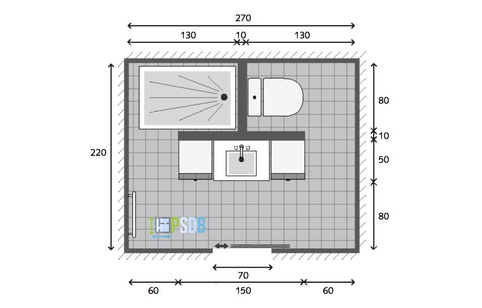 Exemple plan de salle de bain de 5 9m2 plans pour - Exemple amenagement salle de bain ...