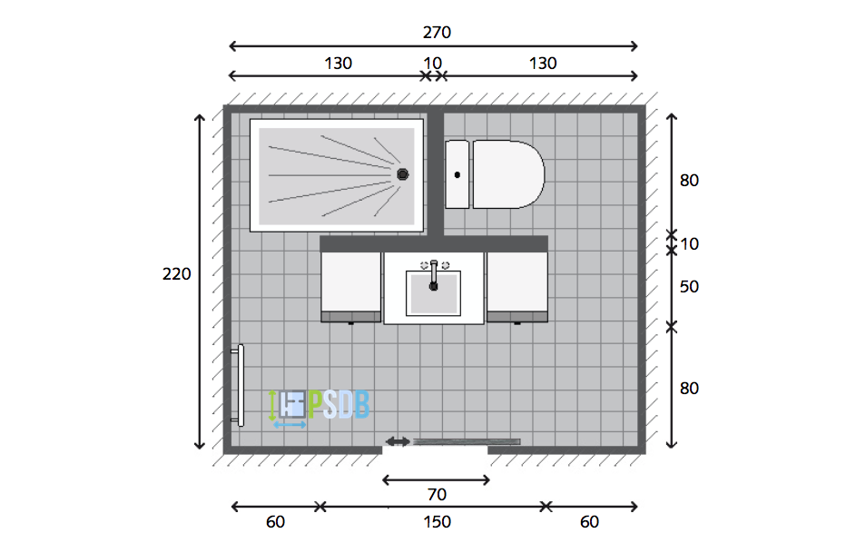 Exemple Plan De Salle De Bain De 5 9m2 Plan Salle De Bain Salle De Bain Design Idee Salle De Bain