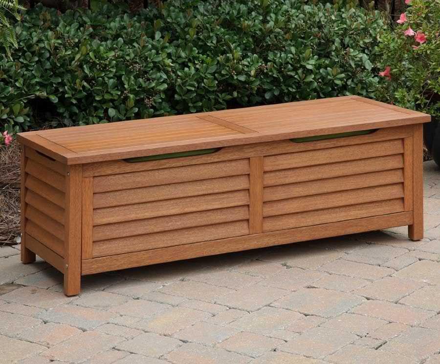 Outdoor Bank Mit Lagerung Schrank Gartenmobel Kissen Aufbewahrung Garten Holzbank Mit Ablage