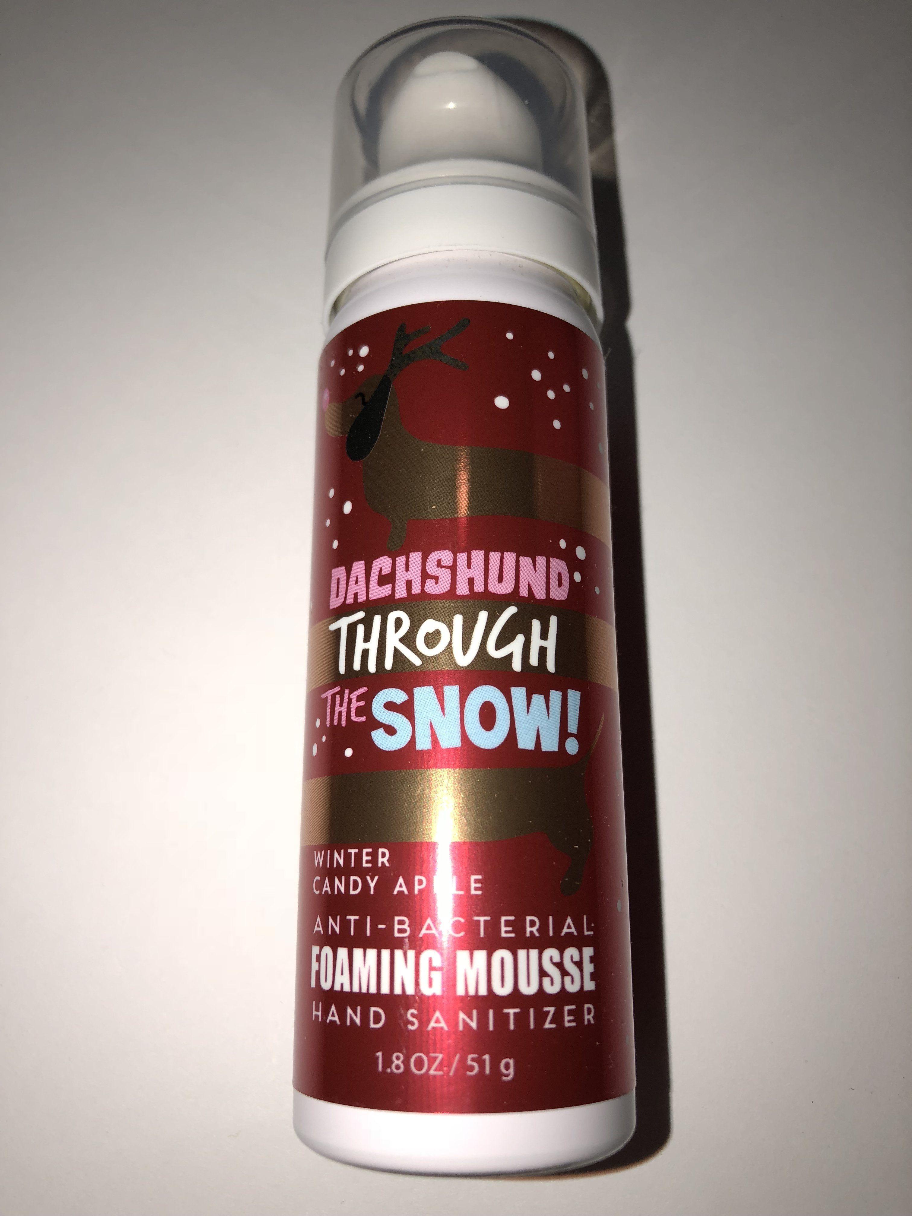 Bath Body Works Dachshund Through The Snow Foaming Mousse Bath