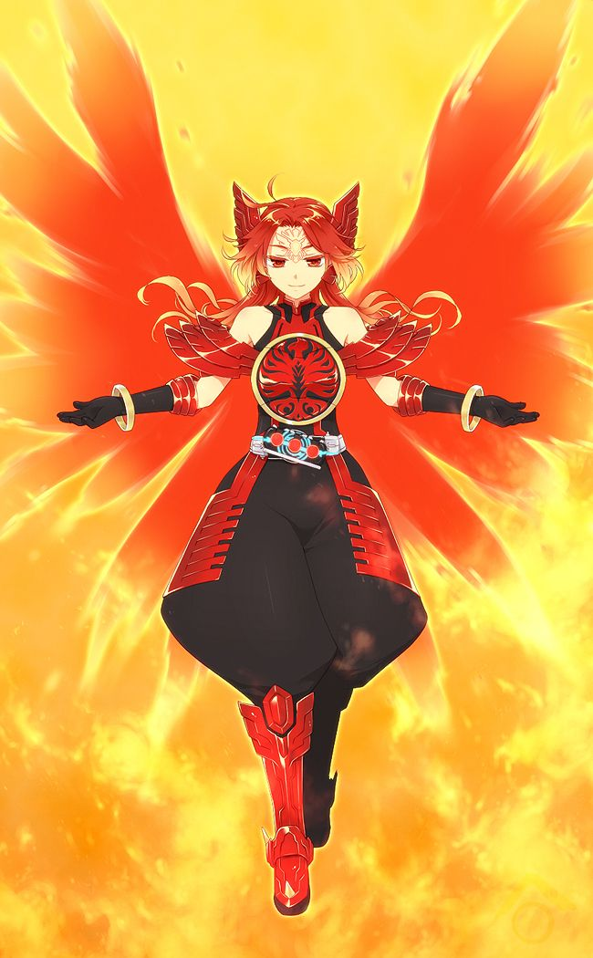 anime dragon rider girl | Magic(s): Animal (Phoenix and ...