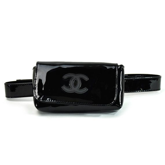 83a5920dfd31 Authentic #CHANEL Patent Leather #BumBag by #LadyDangerVintage #luxefinds  #chanelvintage #chanel #fannypack #90s #grunge