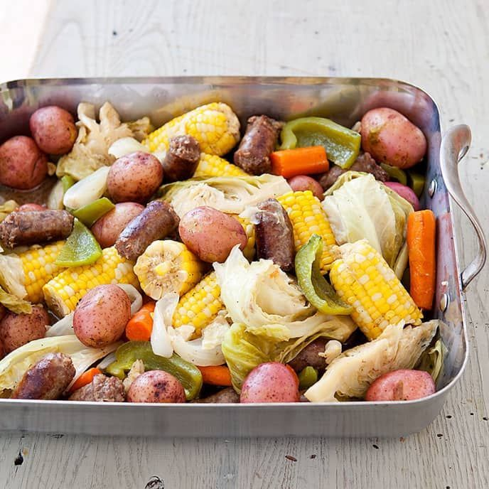 MilkCan Supper  Cooks Country Vegetarianize that recipe with Tofurky Beer Brats