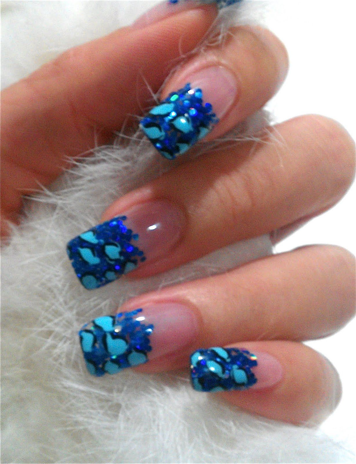 20 pretty nail designs for this new season french nails blue 20 pretty nail designs for this new season prinsesfo Image collections