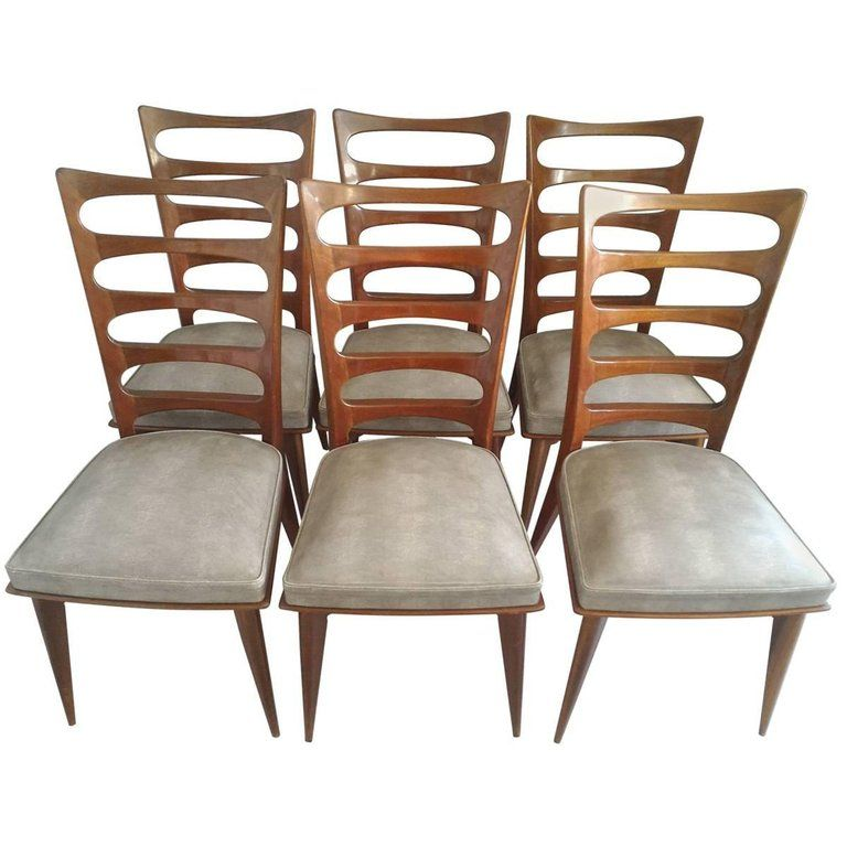 For Sale On 1stdibs Set Of Six French Mid Century Modern Tall