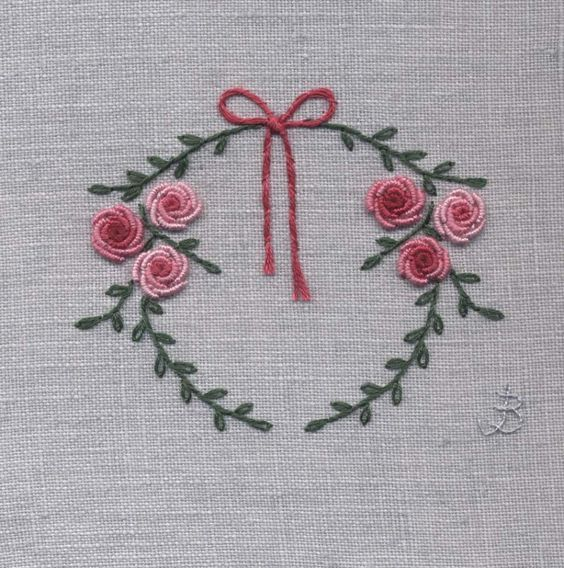 Jo Butcher, Embroidery Artist - Wreath #silkribbonembroiderypatterns