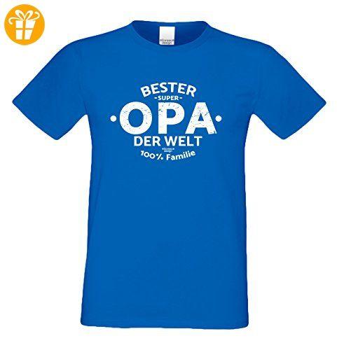 Herren Opa T-Shirt Geschenk Set mit Gratis Urkunde zum Opatag in Größen bis  5XL