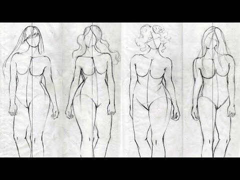 b50bfadeb4f How to Draw Plus Size Fashion Figures - YouTube